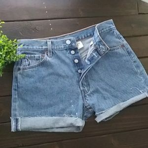 Vintage Levi's 501 Cut Offs Button Fly Size 30W